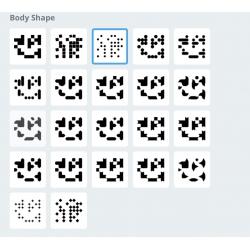 QR code met design body shape
