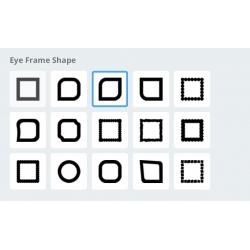QR code met design Eye frame shape