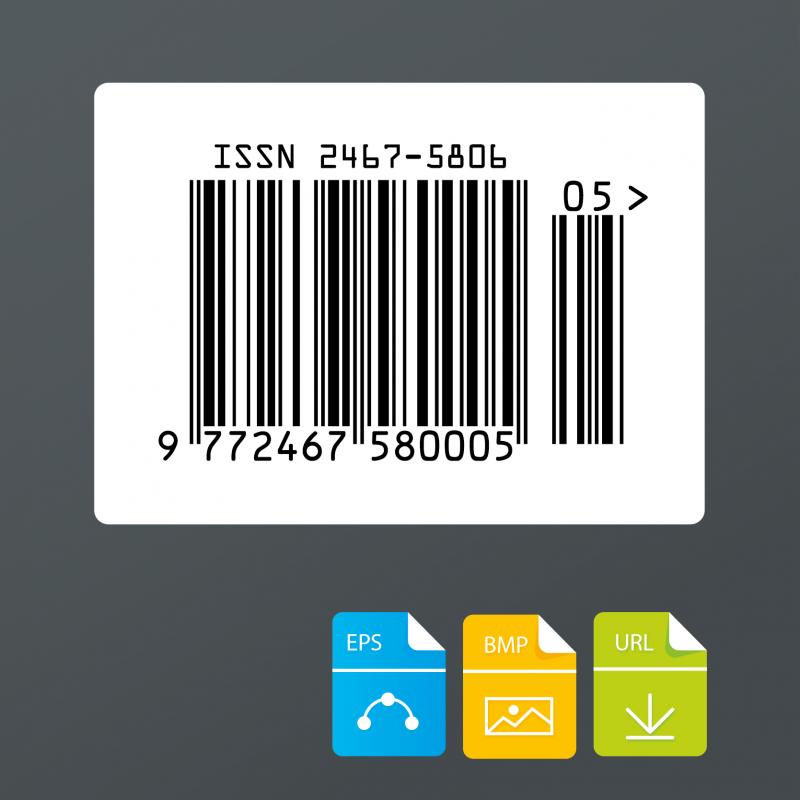 ISSN barcode nummer voor tijdschriften