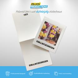 538 lintjesregen polaroid met sticker frame