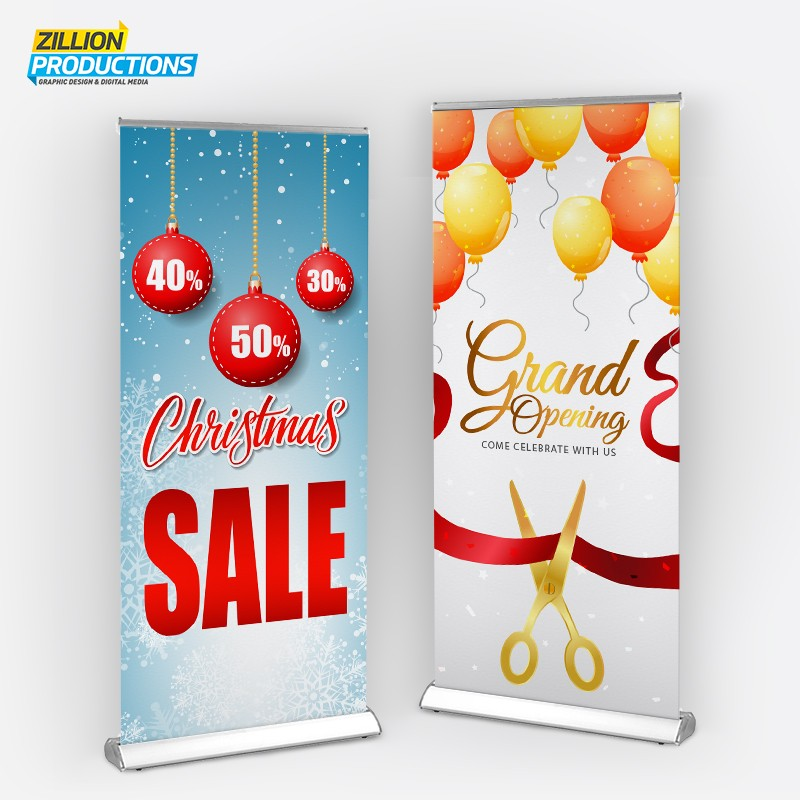 Roll up banner 85x200cm