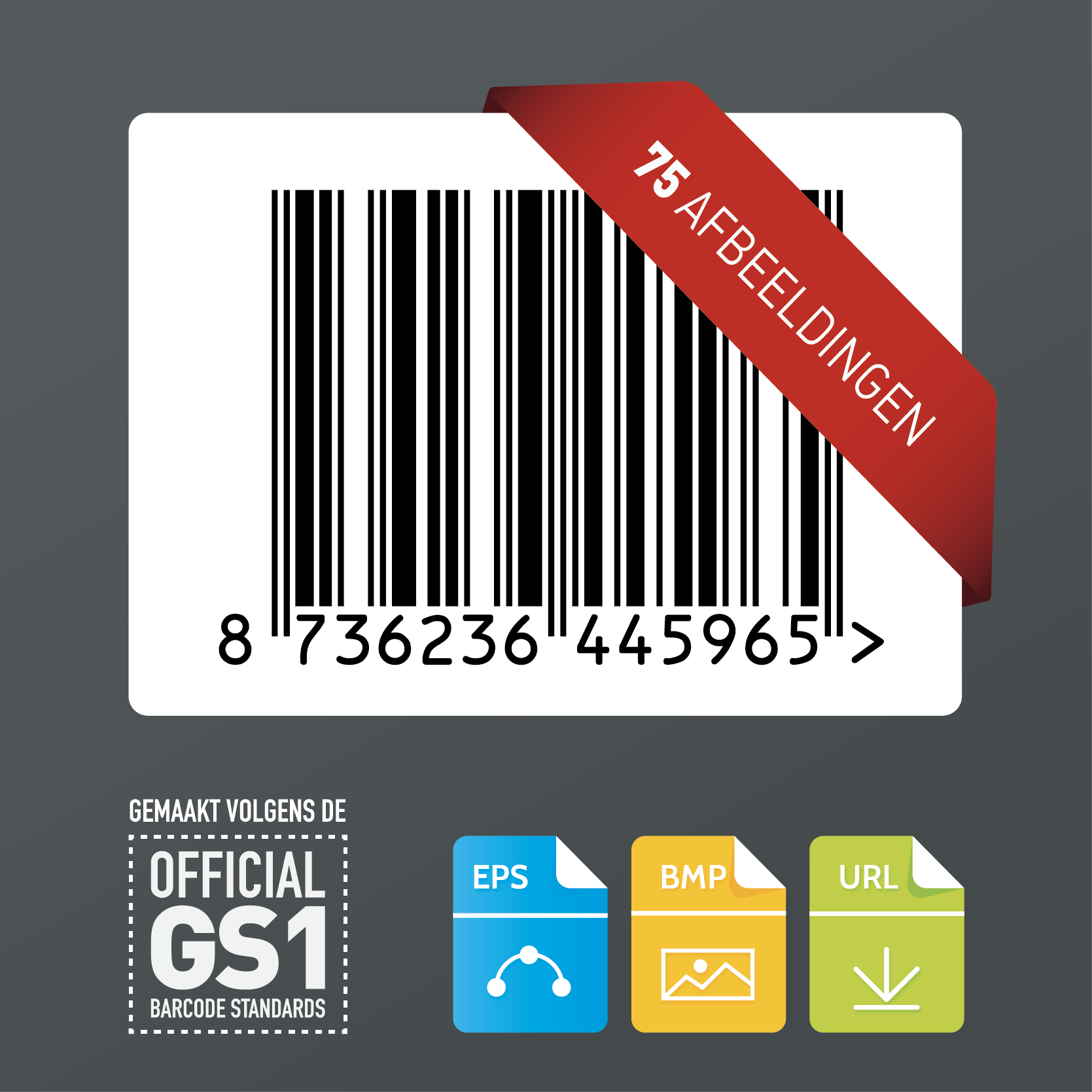 75x GS1 barcode afbeeldingen