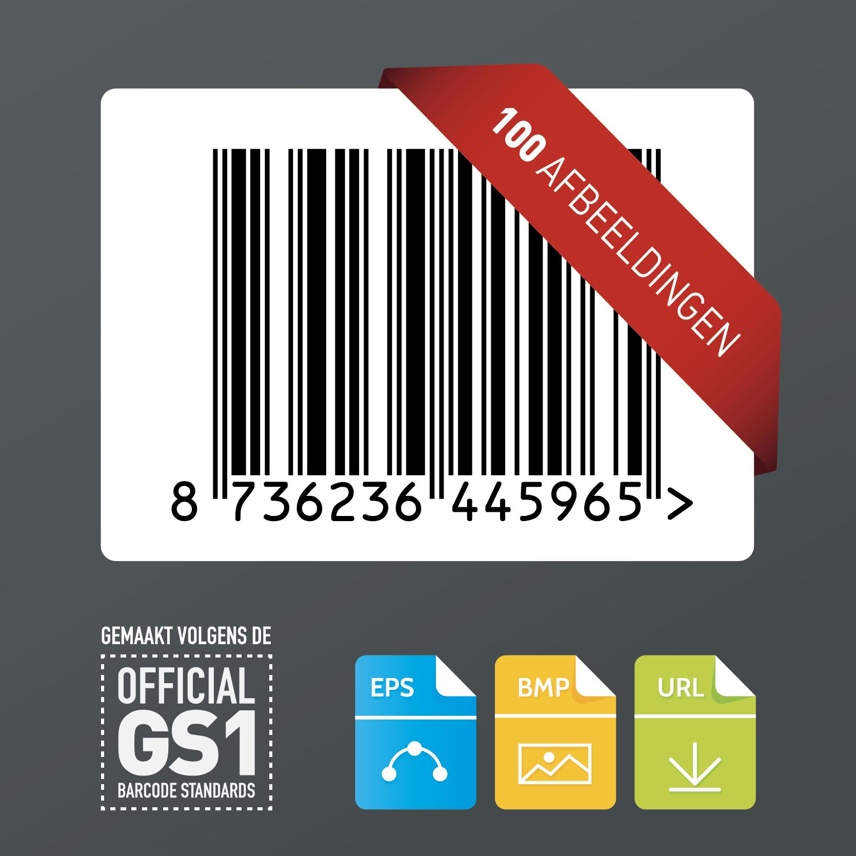 100x GS1 barcode afbeeldingen