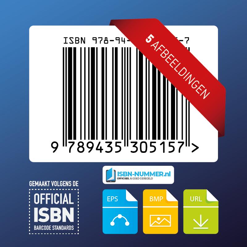 5x ISBN nummer afbeeldingen