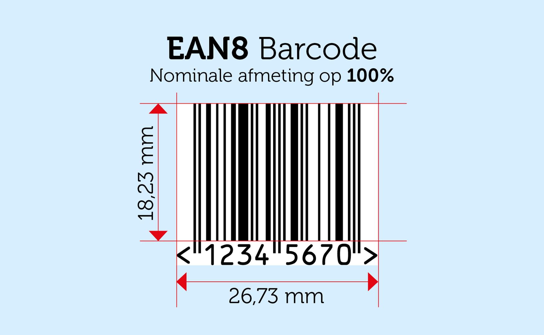ean 8 barcode nummer afbeelding