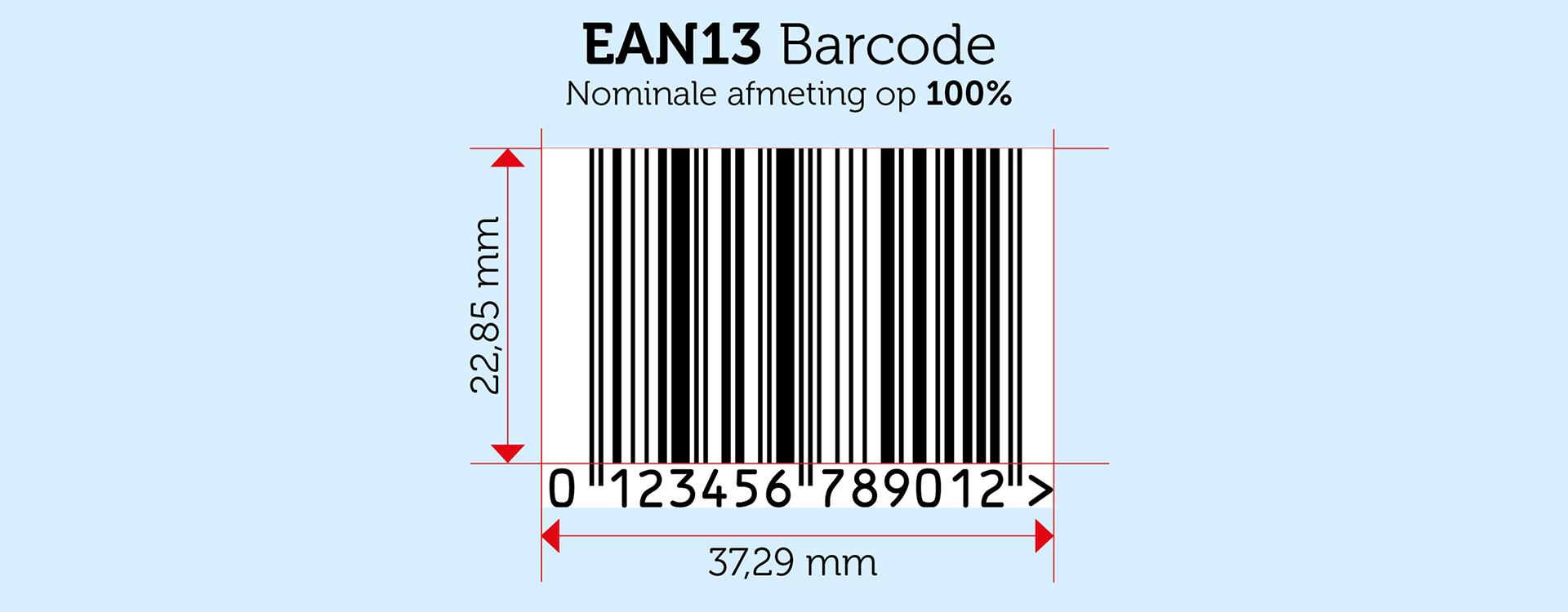 Barcode afmetingen