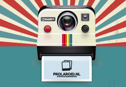 Polaroid met stickerframe